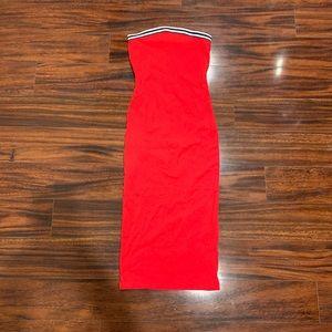 4/$30 Garage Red Strapless Dress